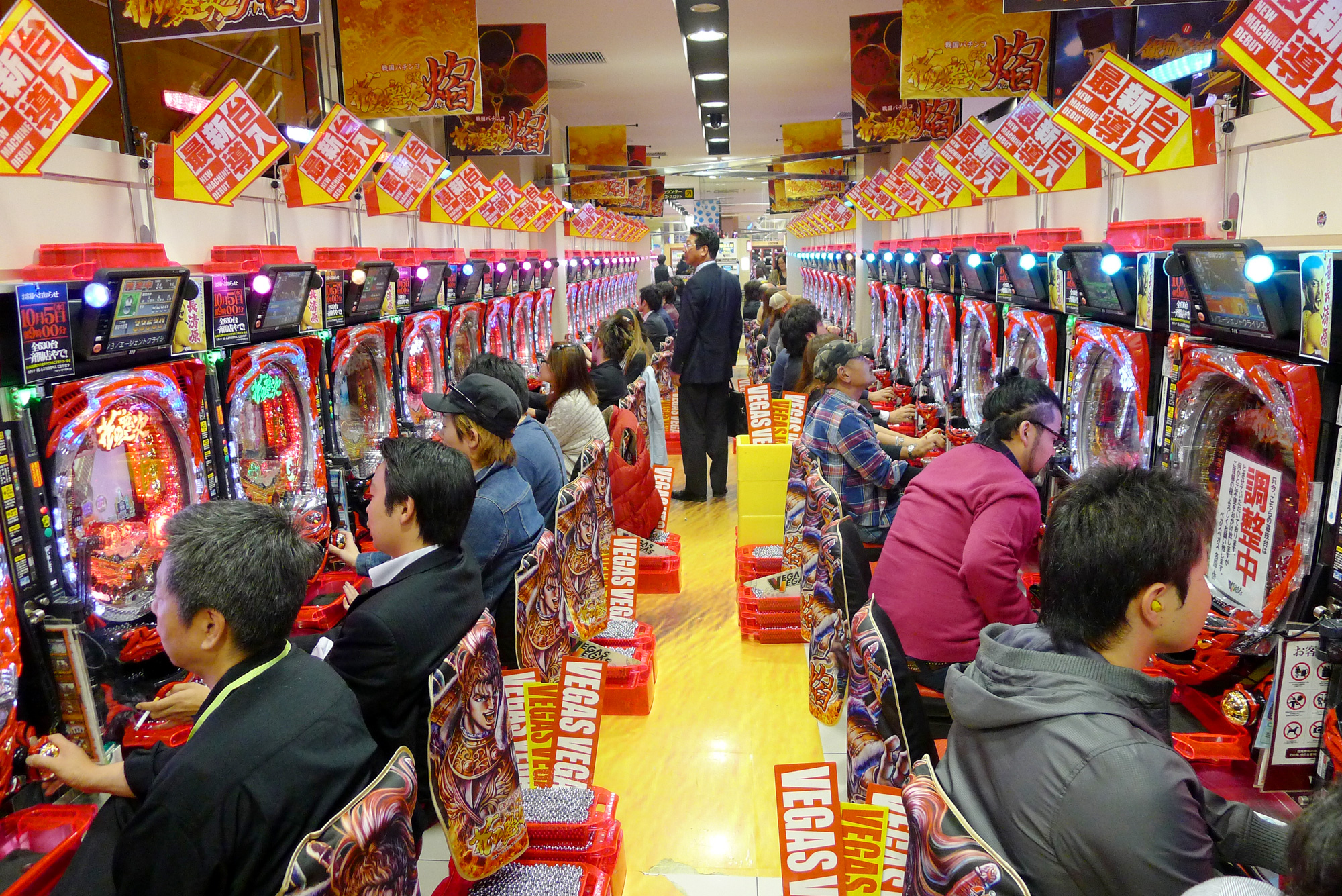 Pachinko parlour in Sendai, Japan. Photo by Karl Andersson.