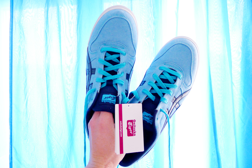 Blue Onitsuka Tiger sneakers