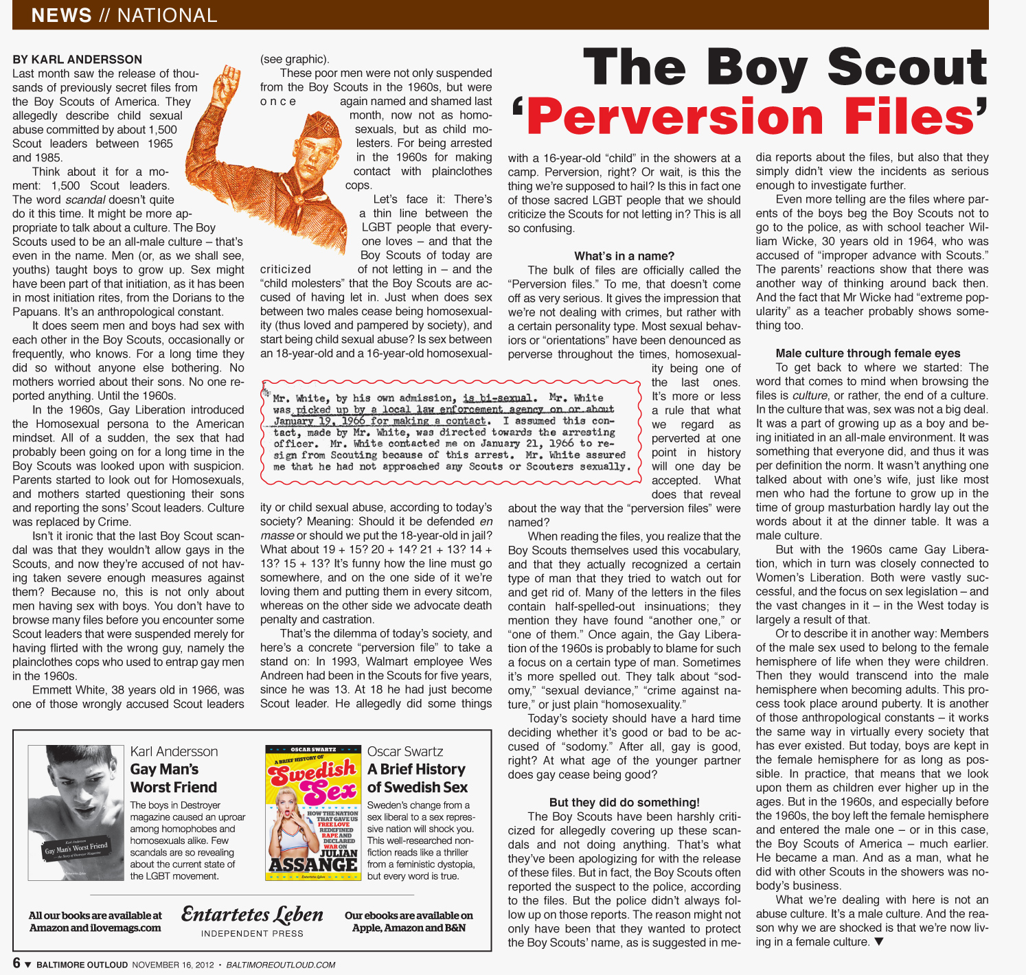 Baltimore Outloud: The Boy Scout 'Perversion Files' by Karl Andersson