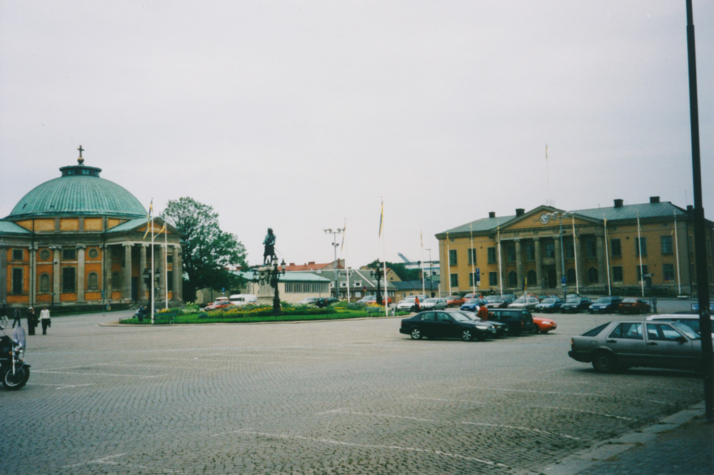 The big square of Karlskrona. Not much of a good mood boost.