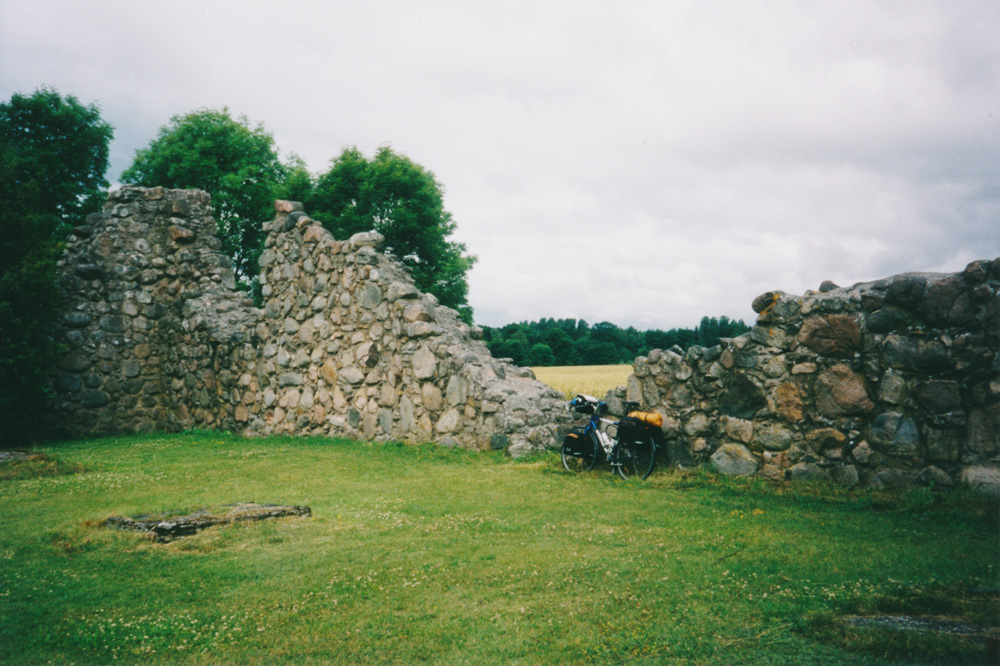 The ruins of Kronobäck Hospital Church, a nice place to have a coffeebreak.