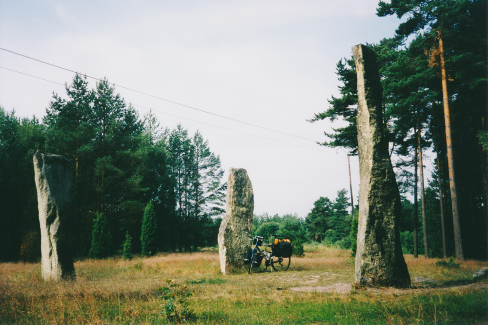 A miniature Stonehenge that I passed at Ysane.