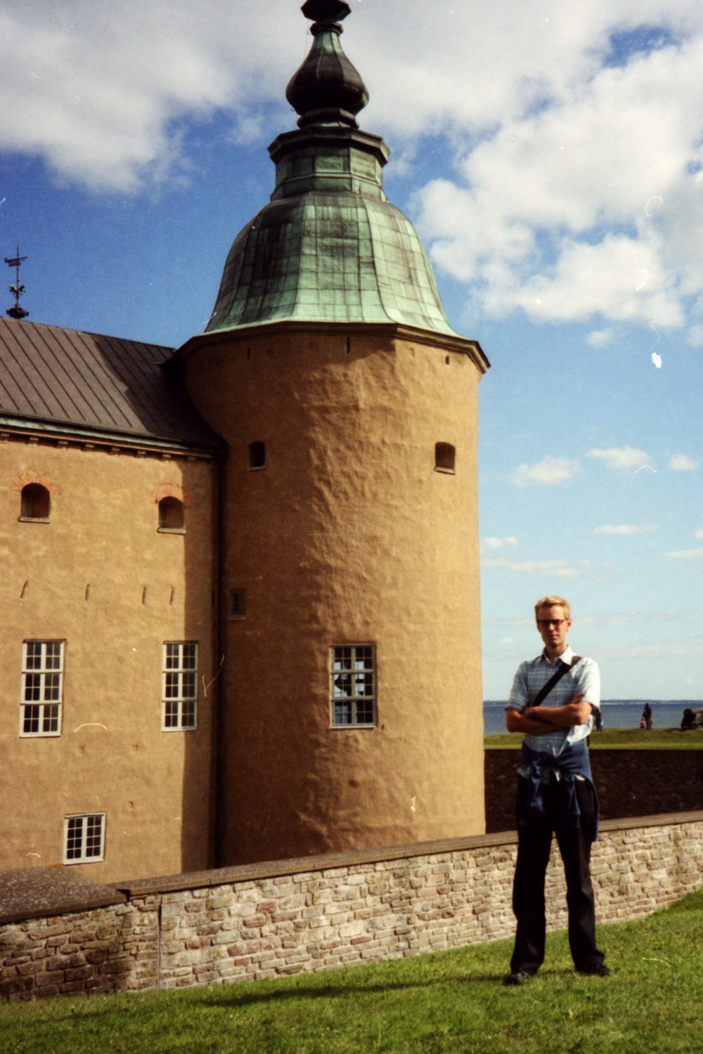 The castle of Kalmar. Note the blue sky in the background, an unusual sight on this tour.