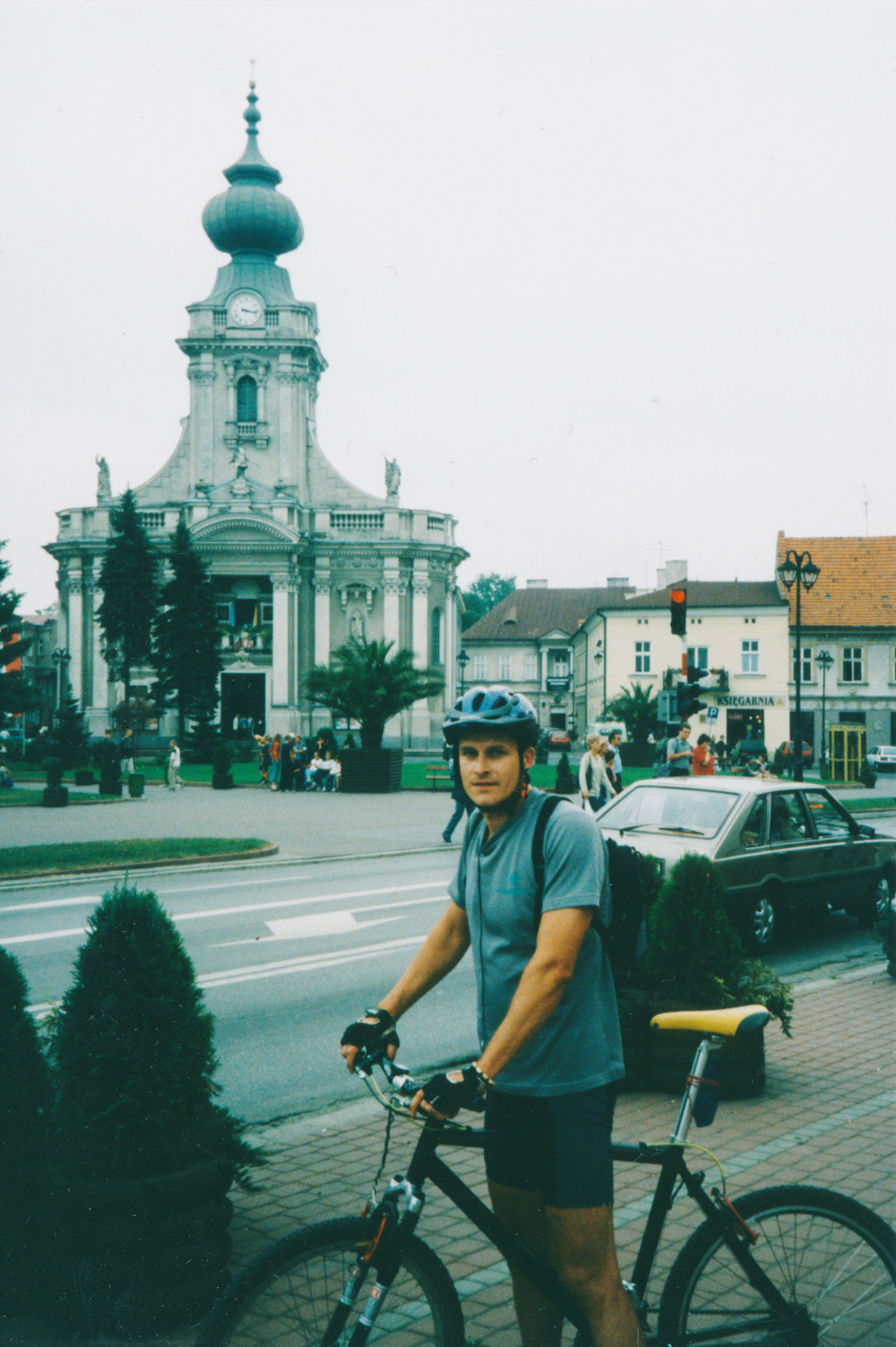 My Polish bike friend in Wadowice.